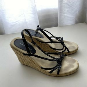 Banana Republic Womens Size 8 Black Wedges